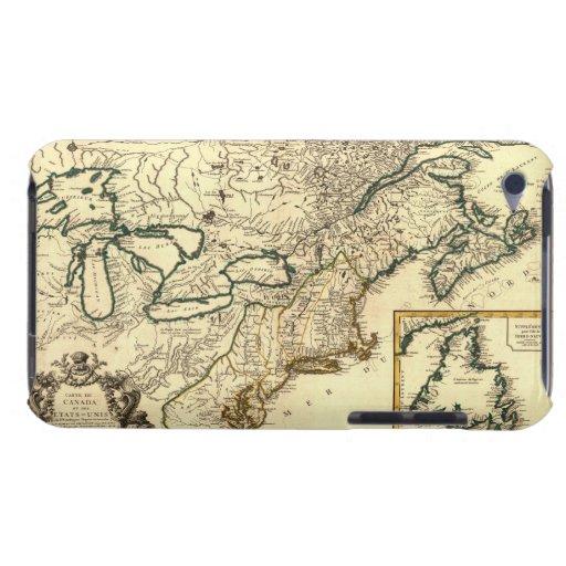 Mapa 1778 de Canadá y de los Estados Unidos Case-Mate iPod Touch Carcasas