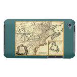Mapa 1778 de Canadá y de los Estados Unidos iPod Touch Case-Mate Funda