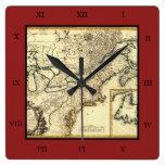 Mapa 1778 de Canadá y de los Estados Unidos Reloj