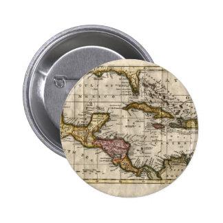 Mapa 1790 de las Antillas del fenómeno y de Pin Redondo De 2 Pulgadas