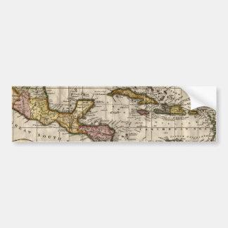 Mapa 1790 de las Antillas del fenómeno y de Robins Pegatina De Parachoque