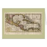 Mapa 1790 de las Antillas del fenómeno y de Robins Tarjetón