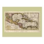 Mapa 1790 de las Antillas del fenómeno y de Robins Postal