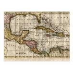 Mapa 1790 de las Antillas del fenómeno y de Robins Postales