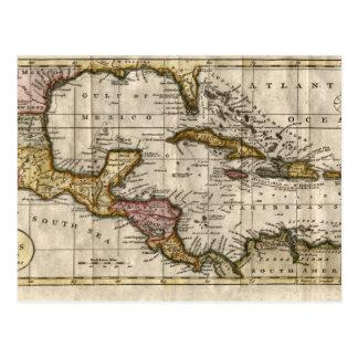 Mapa 1790 de las Antillas del fenómeno y de Postal