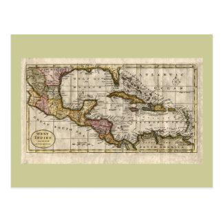 Mapa 1790 de las Antillas del fenómeno y de Tarjetas Postales