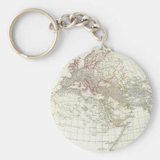 Mapa 1794 de Anville del mundo antiguo Llavero Redondo Tipo Pin