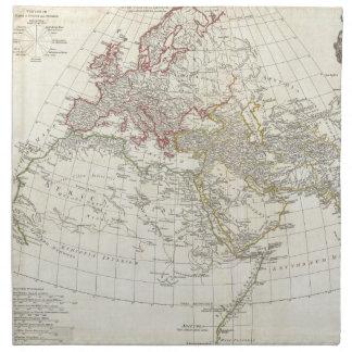 Mapa 1794 de Anville del mundo antiguo Servilletas Imprimidas