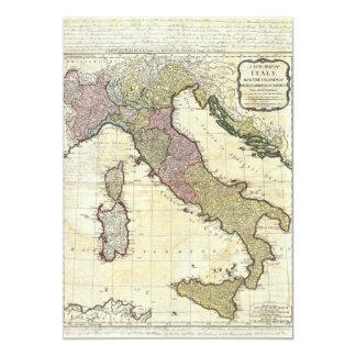 Mapa 1794 de D'Anville Italia del Bourguignon de Invitaciones Personalizada