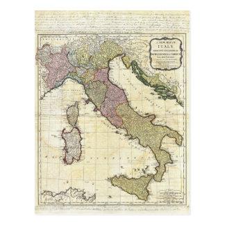 Mapa 1794 de D'Anville Italia del Bourguignon de J Postales