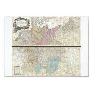 Mapa 1794 de Delarochette del imperio de Alemania Anuncio Personalizado