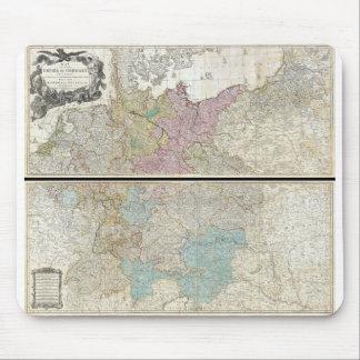 Mapa 1794 de Delarochette del imperio de Alemania Mousepad