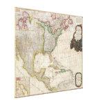 Mapa 1794 de Pownell de Norteamérica y de las Anti Impresiones En Lona Estiradas