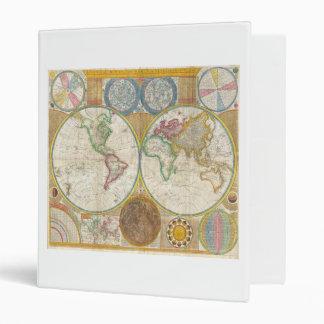 Mapa 1794 de Samuel Dunn del mundo en hemisferios