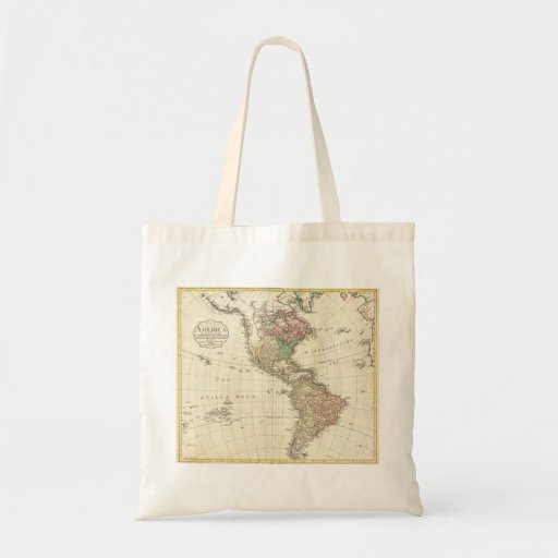 Mapa 1796 de Mannert del norte y de Suramérica Bolsa Tela Barata