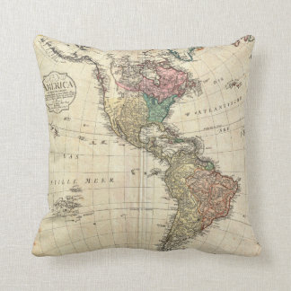Mapa 1796 de Mannert del norte y de Suramérica Cojin