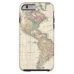 Mapa 1796 de Mannert del norte y de Suramérica Funda De iPhone 6 Tough
