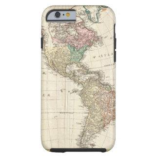 Mapa 1796 de Mannert del norte y de Suramérica Funda Para iPhone 6 Tough