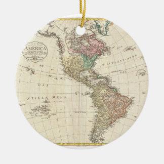 Mapa 1796 de Mannert del norte y de Suramérica Ornamento De Navidad