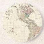 Mapa 1796 de Mannert del norte y de Suramérica Posavasos Manualidades