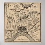 Mapa 1798 de New Orleans Posters