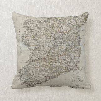 Mapa 1804 de Irlanda Cojines