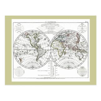 Mapa 1806 del atlas: La Mappemonde de Eustache Tarjetas Postales