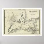 Mapa 1809 de Bahía De Tampa la Florida Póster