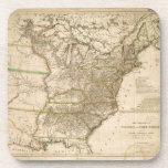 Mapa 1809 de los Estados Unidos de Norteamérica