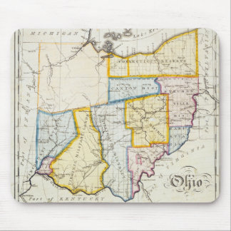Mapa 1812 de Ohio Mousepad Tapete De Raton