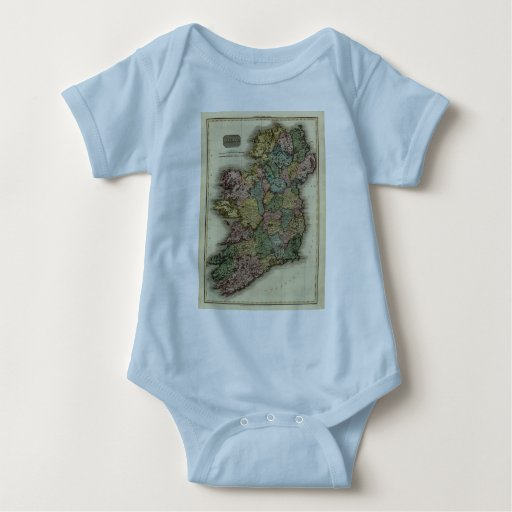 Mapa 1813 de Irlanda de Juan Pinkerton Body Para Bebé
