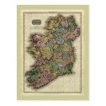 Mapa 1813 de Irlanda de Juan Pinkerton Tarjeta Postal