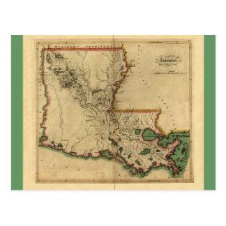 Mapa 1814 de Luisiana del vintage Postales