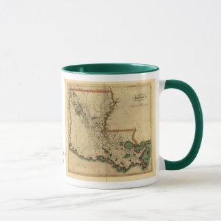 Mapa 1814 de Luisiana del vintage Taza