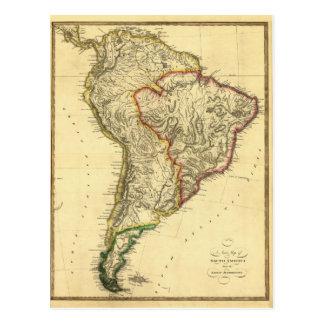 Mapa 1817 de Suramérica Postal