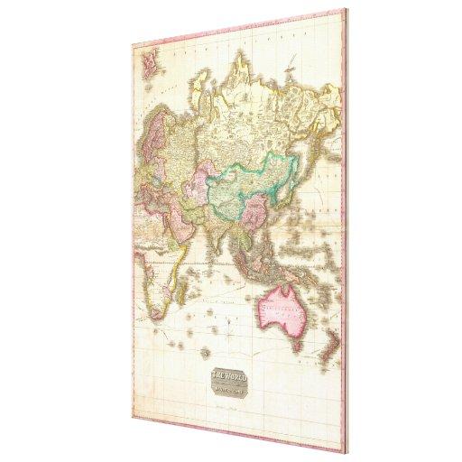Mapa 1818 de Juan Pinkerton del hemisferio del est Impresión En Lona