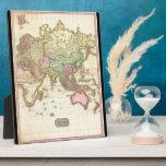 Mapa 1818 de Juan Pinkerton del hemisferio del est Placas De Madera