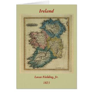 Mapa 1823 de Irlanda por el JR que coloca de Lucas Tarjeta De Felicitación