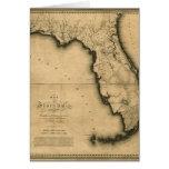 Mapa 1823 de la Florida Felicitaciones