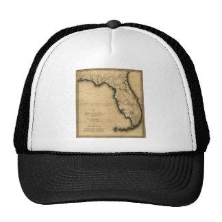 Mapa 1823 de la Florida Gorras De Camionero