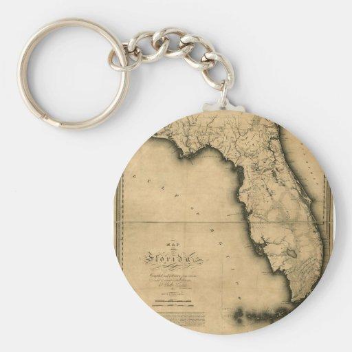 Mapa 1823 de la Florida Llavero Personalizado