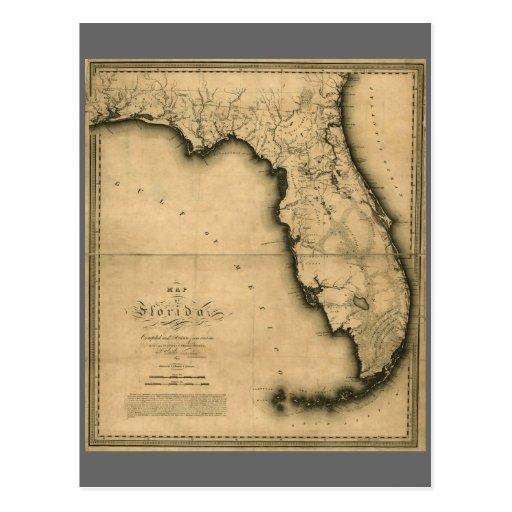 Mapa 1823 de la Florida Postal