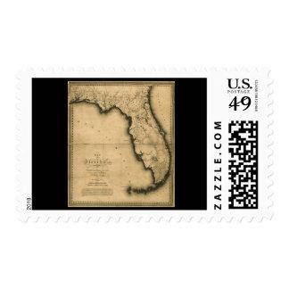 Mapa 1823 de la Florida Franqueo
