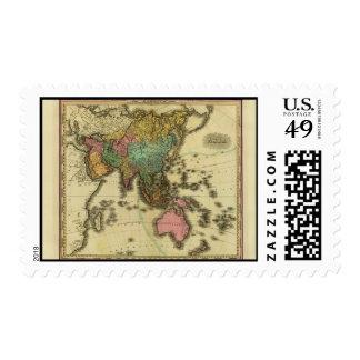 Mapa 1825 de Asia de Henry Tanner Franqueo