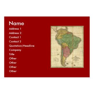 Mapa 1826 de Suramérica del vintage de Anthony Tarjetas De Visita Grandes