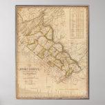 Mapa 1831 del condado de Bucks Pennsylvania Impresiones