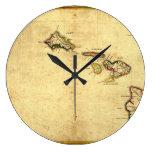 Mapa 1837 - islas hawaianas de Hawaii del vintage Reloj