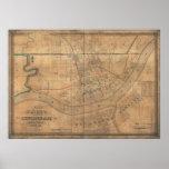 Mapa 1838 de Cincinnati, Ohio Impresiones