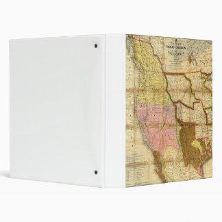 "Mapa 1846 de Tejas Oregon California de un Carpeta 1"""