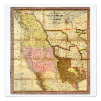 Mapa 1846 de Tejas Oregon California de un Anuncios
